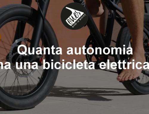 Quanta autonomia ha una bicicletta elettrica?